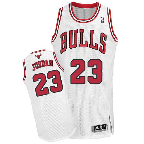Men's Adidas Chicago Bulls #23 Michael Jordan Authentic White Home NBA Jersey