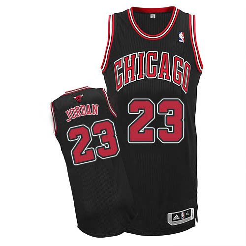 Men's Adidas Chicago Bulls #23 Michael Jordan Authentic Black Alternate NBA Jersey