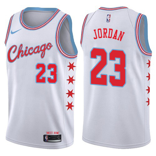 Men's Adidas Chicago Bulls #23 Michael Jordan Authentic Black/Red Split Fashion NBA Jersey