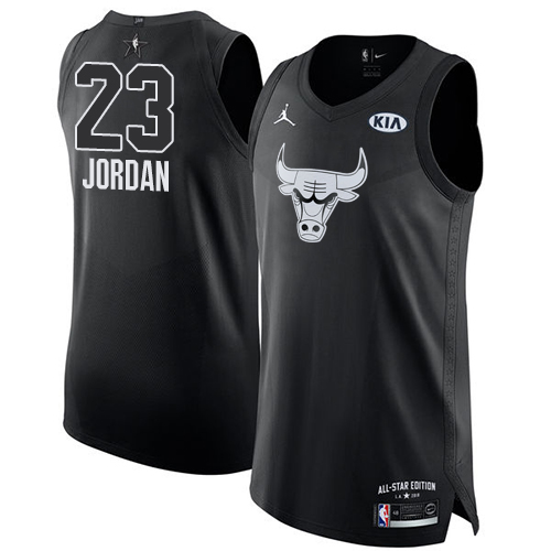 Men's Adidas Chicago Bulls #23 Michael Jordan Authentic Black Alternate Autographed NBA Jersey
