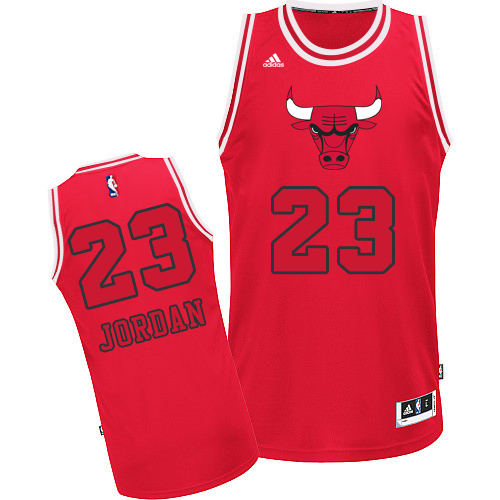 Men's Adidas Chicago Bulls #23 Michael Jordan Authentic Red New Fashion NBA Jersey