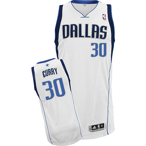 Men's Adidas Dallas Mavericks #30 Seth Curry Authentic White Home NBA Jersey