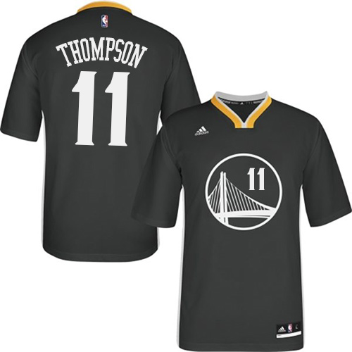 Men's Adidas Golden State Warriors #11 Klay Thompson Authentic Black Alternate NBA Jersey