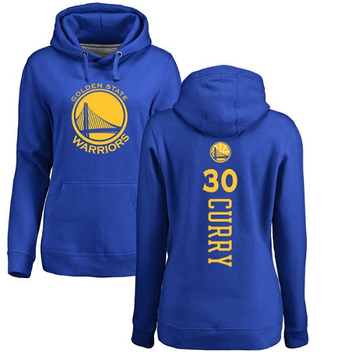 NBA Women's Nike Golden State Warriors #30 Stephen Curry Royal Blue Backer Pullover Hoodie