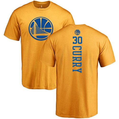 NBA Nike Golden State Warriors #30 Stephen Curry Gold One Color Backer T-Shirt