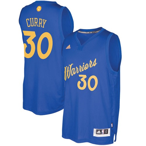 Men's Adidas Golden State Warriors #30 Stephen Curry Authentic Royal Blue 2016-2017 Christmas Day NBA Jersey
