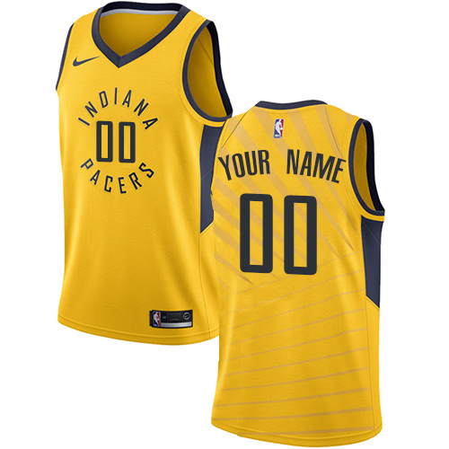 Men's Adidas Indiana Pacers Customized Authentic Gold Alternate NBA Jersey