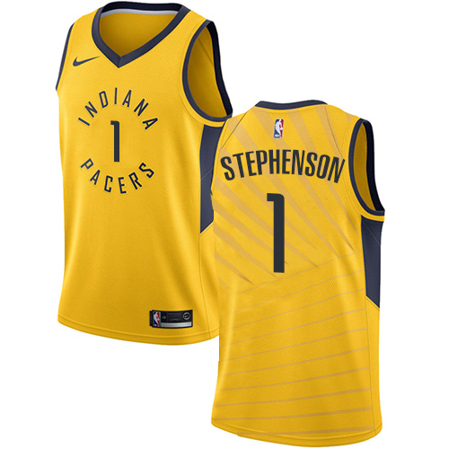 Men's Adidas Indiana Pacers #1 Lance Stephenson Authentic Gold Alternate NBA Jersey