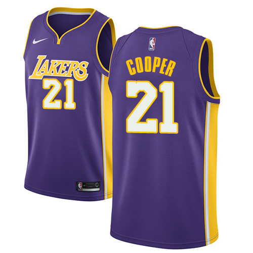 Men's Adidas Los Angeles Lakers #21 Michael Cooper Authentic Purple Road NBA Jersey
