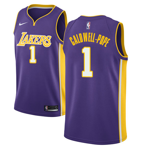 Men's Adidas Los Angeles Lakers #1 Kentavious Caldwell-Pope Authentic Purple Road NBA Jersey