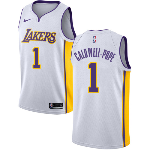 Men's Adidas Los Angeles Lakers #1 Kentavious Caldwell-Pope Authentic White Alternate NBA Jersey