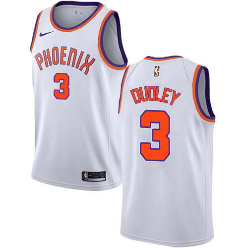 Men's Adidas Phoenix Suns #3 Jared Dudley Authentic White Home NBA Jersey