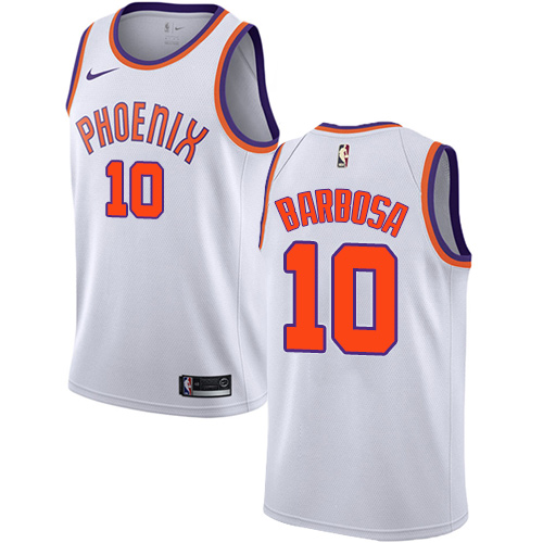 Men's Adidas Phoenix Suns #10 Leandro Barbosa Authentic White Home NBA Jersey