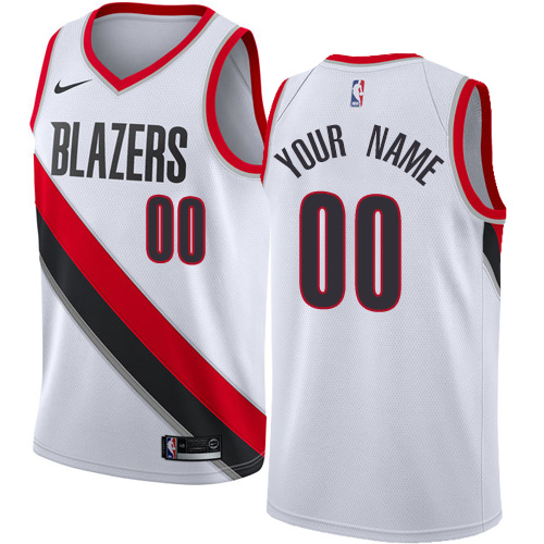 Men's Nike Portland Trail Blazers Customized Authentic White Home NBA Jersey - Association Edition