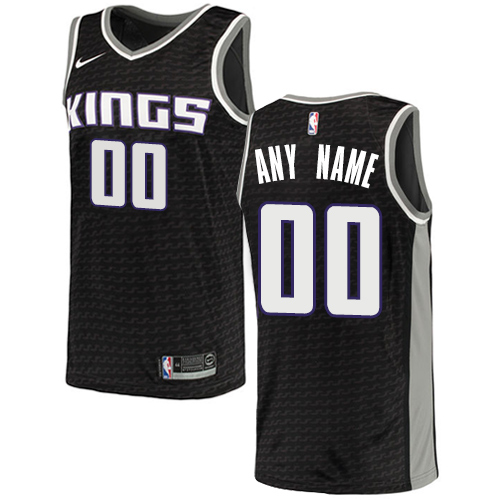 Men's Adidas Sacramento Kings Customized Authentic Black NBA Jersey Statement Edition