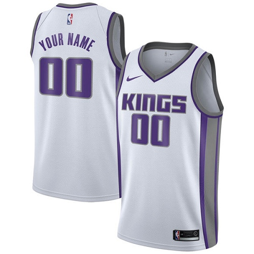 Youth Nike Sacramento Kings Customized Authentic White NBA Jersey - Association Edition