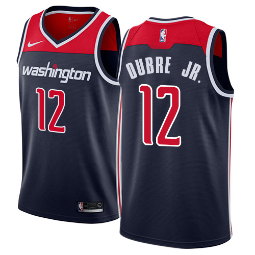 Men's Adidas Washington Wizards #12 Kelly Oubre Jr. Swingman Navy Blue NBA Jersey Statement Edition