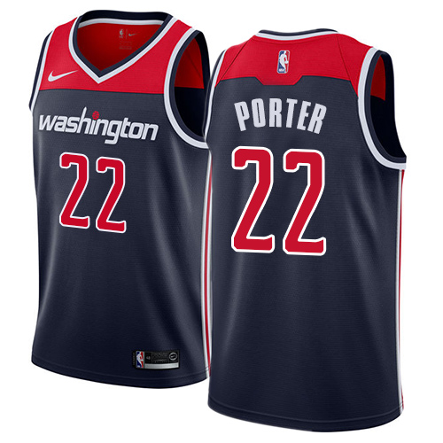 Men's Adidas Washington Wizards #22 Otto Porter Authentic Navy Blue NBA Jersey Statement Edition