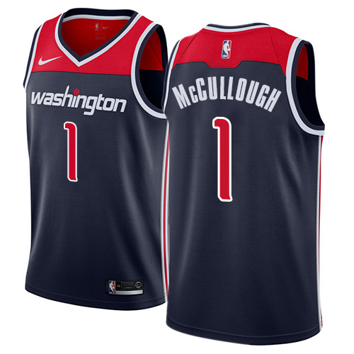 Men's Adidas Washington Wizards #1 Chris McCullough Authentic Navy Blue NBA Jersey Statement Edition