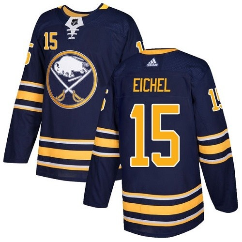 Men's Adidas Buffalo Sabres #15 Jack Eichel Authentic Navy Blue Home NHL Jersey