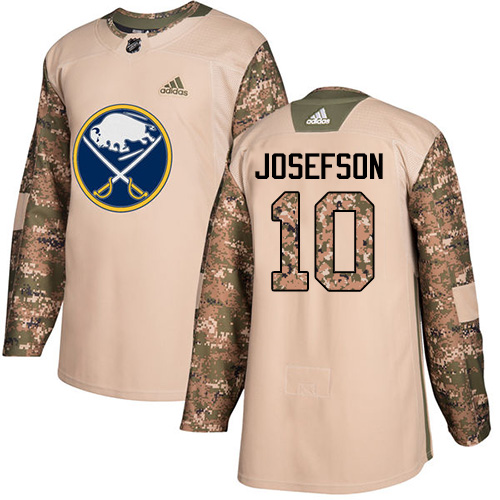 Men's Adidas Buffalo Sabres #10 Jacob Josefson Authentic Camo Veterans Day Practice NHL Jersey