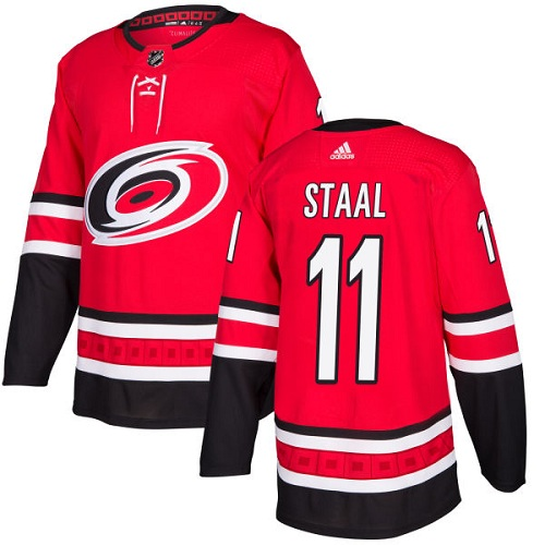 Men's Adidas Carolina Hurricanes #11 Jordan Staal Authentic Red Home NHL Jersey