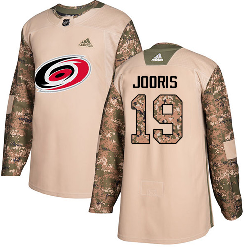 Men's Adidas Carolina Hurricanes #19 Josh Jooris Authentic Camo Veterans Day Practice NHL Jersey