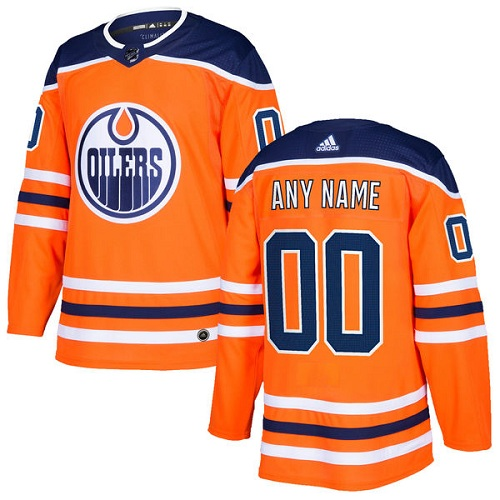 Youth Adidas Edmonton Oilers Customized Authentic Orange Home NHL Jersey