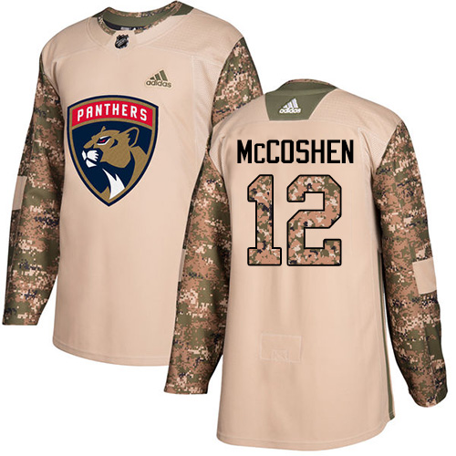 Men's Adidas Florida Panthers #12 Ian McCoshen Authentic Camo Veterans Day Practice NHL Jersey