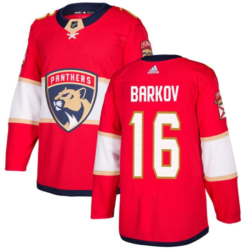 Men's Adidas Florida Panthers #16 Aleksander Barkov Premier Red Home NHL Jersey