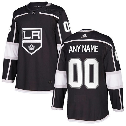 Men's Adidas Los Angeles Kings Customized Authentic Black Home NHL Jersey