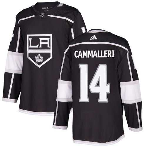 Men's Adidas Los Angeles Kings #14 Mike Cammalleri Authentic Black Home NHL Jersey