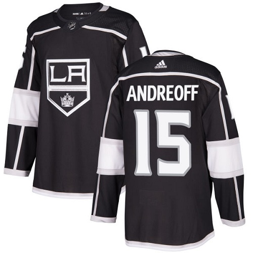 Men's Adidas Los Angeles Kings #15 Andy Andreoff Authentic Black Home NHL Jersey
