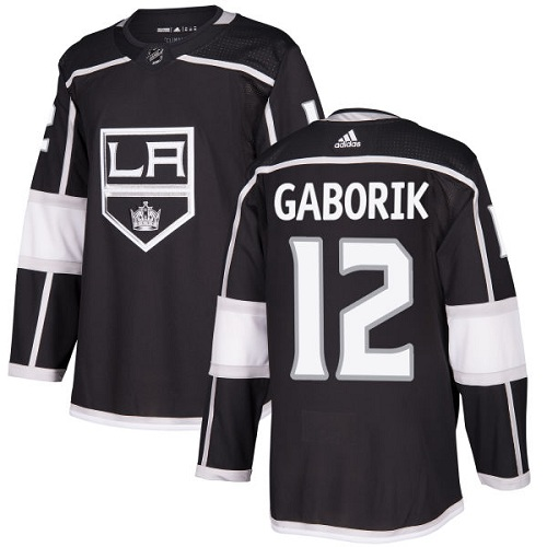 Men's Adidas Los Angeles Kings #12 Marian Gaborik Authentic Black Home NHL Jersey