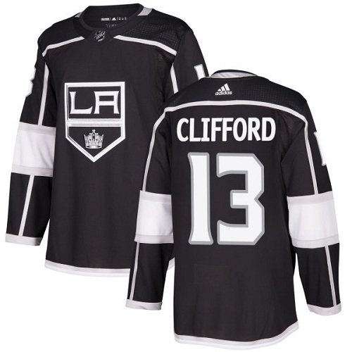 Men's Adidas Los Angeles Kings #13 Kyle Clifford Authentic Black Home NHL Jersey