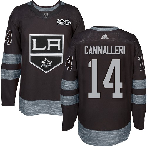 Men's Adidas Los Angeles Kings #14 Mike Cammalleri Authentic Black 1917-2017 100th Anniversary NHL Jersey