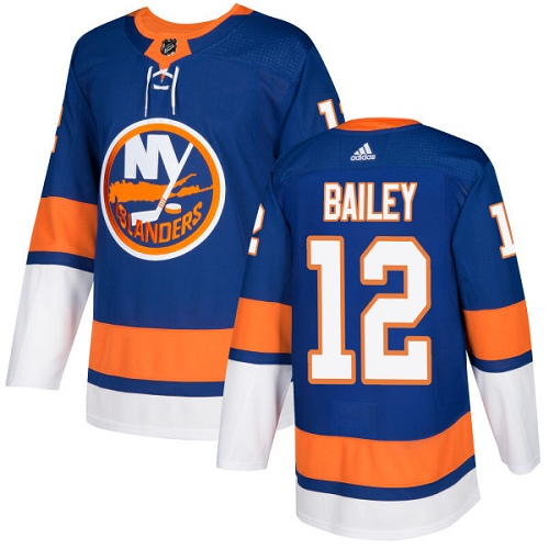 Men's Adidas New York Islanders #12 Josh Bailey Authentic Royal Blue Home NHL Jersey