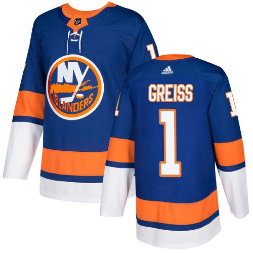 Men's Adidas New York Islanders #1 Thomas Greiss Authentic Royal Blue Home NHL Jersey