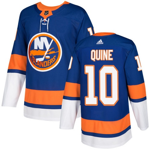 Men's Adidas New York Islanders #10 Alan Quine Authentic Royal Blue Home NHL Jersey