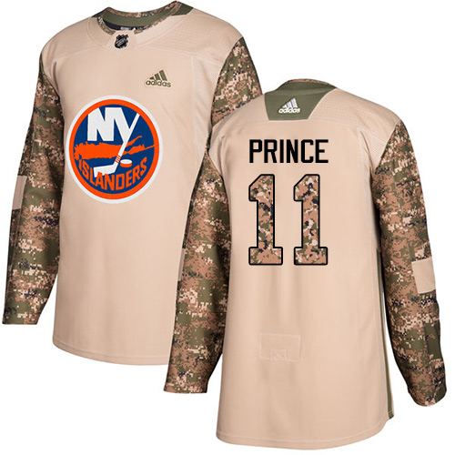 Men's Adidas New York Islanders #11 Shane Prince Authentic Camo Veterans Day Practice NHL Jersey
