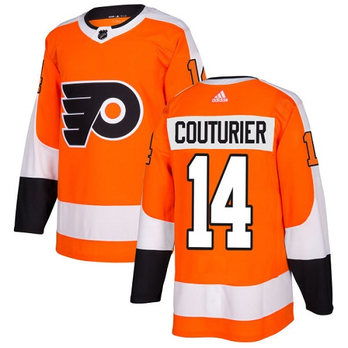 Men's Adidas Philadelphia Flyers #14 Sean Couturier Authentic Orange Home NHL Jersey