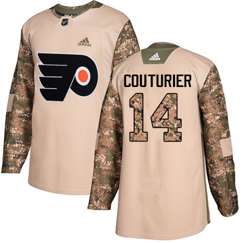 Men's Adidas Philadelphia Flyers #14 Sean Couturier Authentic Camo Veterans Day Practice NHL Jersey