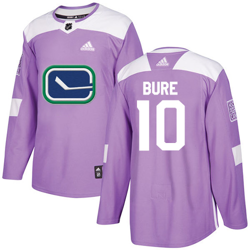 Men's Adidas Vancouver Canucks #10 Pavel Bure Authentic Purple Fights Cancer Practice NHL Jersey