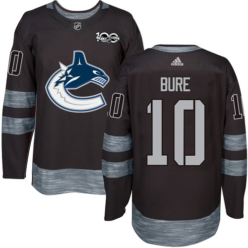 Men's Adidas Vancouver Canucks #10 Pavel Bure Authentic Black 1917-2017 100th Anniversary NHL Jersey