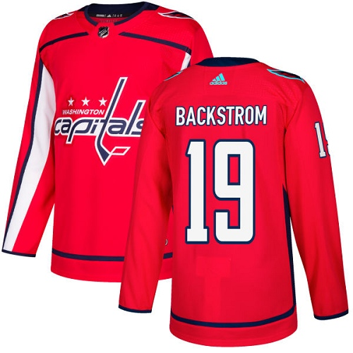 Men's Adidas Washington Capitals #19 Nicklas Backstrom Authentic Red Home NHL Jersey
