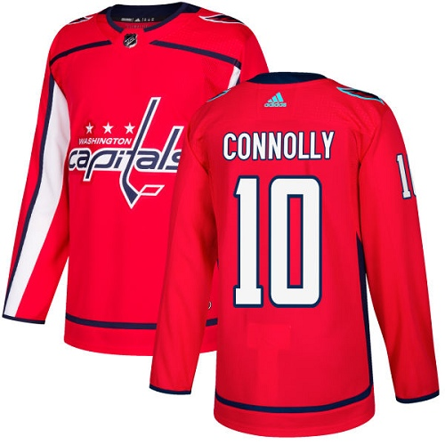 Men's Adidas Washington Capitals #10 Brett Connolly Authentic Red Home NHL Jersey