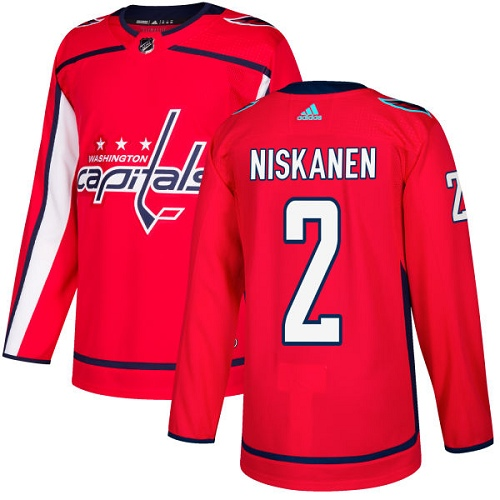 Men's Adidas Washington Capitals #2 Matt Niskanen Authentic Red Home NHL Jersey