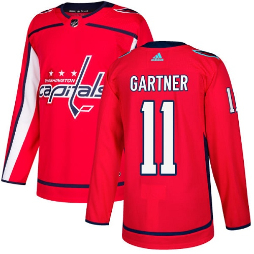 Men's Adidas Washington Capitals #11 Mike Gartner Authentic Red Home NHL Jersey