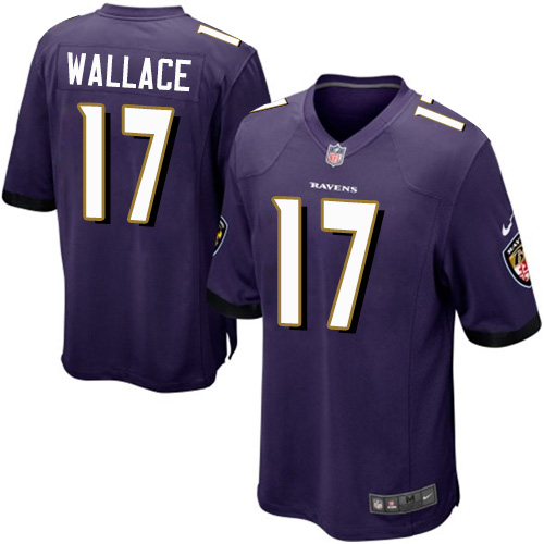 Men's Nike Baltimore Ravens #17 Mike Wallace Game Purple Team Color NFL Jersey