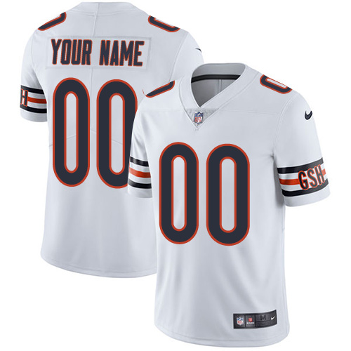 Men's Nike Chicago Bears Customized White Vapor Untouchable Custom Limited NFL Jersey